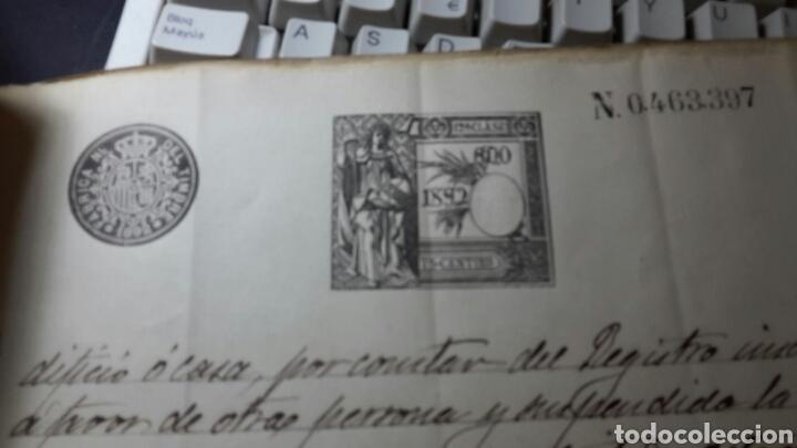 Manuscritos antiguos: Antiguo documento 1892 manuscrito escritura de testamento 7 hojas total - Foto 5 - 61714616