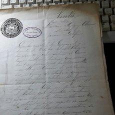 Manuscritos antiguos: ANTIGUO MANUSCRITO 1868 GUAYAQUIL VENTA ESCRITURA. Lote 61714927