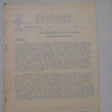 Manuscritos antiguos: SECTORES. BOLETÍN INTERIOR. Nº 2. ABRIL 1959. REDACCION Y ADMINISTRACION JEFATURA..... Lote 61830616