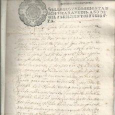 Manuscritos antiguos: LEDESMA SALAMANCA MARQUES DE CAMPI, ISABEL DE SILVA Y ROXAS PEDRO ARQUERO SELLO 2º 1660. Lote 61866860
