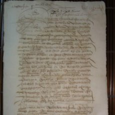 Manuscritos antiguos: TENDILLA HOSPITAL DE SAN JUAN 1570. Lote 61963748