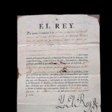 Manuscritos antiguos: 1798. CONCESION GRADO DE OFICIAL PRIMERO DEL MINISTERIO DE MARINA GRADUADO. FIRMA REAL REY CARLOS IV. Lote 62009072