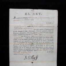 Manuscritos antiguos: 1785. NOMBRAMIENTO OFICIAL SUPERNUMERARIO DEL MINISTERIO DE MARINA. FIRMA REAL REY CARLOS III. ORDEN. Lote 62009980