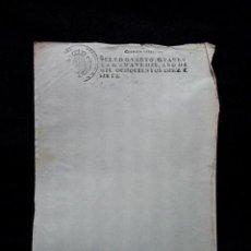 Manuscritos antiguos: 1817. PAPEL TIMBRADO FISCAL. SELLADO. SELLO 4º. 40 MARAVEDIS. FERNANDO VII. EN BLANCO. TIMBROLOGIA.. Lote 62020440
