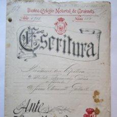 Manuscritos antiguos: ESCRITURA MANUSCRITA DE PRESTAMO CON HIPOTECA ALMERIA 1913 . Lote 62279136