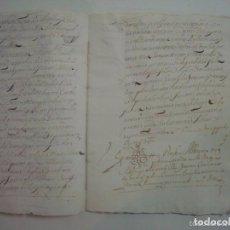 Manuscritos antiguos: MANUSCRITO DE 1696. DONACIÓN.GERUNDA. GIRONA.TEXTO LATÍN.FOLIO MENOR. 7 PÁGINAS. Lote 62305412