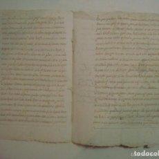 Manuscritos antiguos: MANUSCRITO SOBRE LA PARROQUIA DE ST. GREGORIO. GIRONA. 1702. 5 PÁGINAS.FOLIO MENOR. Lote 62305744