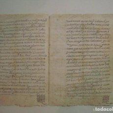 Manuscritos antiguos: MANUSCRITO DE 1664 EN GERUNDA. GIRONA. TEXTO LATÍN. 5 PÁGINAS. FOLIO MENOR. Lote 62306064