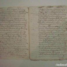 Manuscritos antiguos: MANUSCRITO DE 1699.DONACIÓN. GIRONA.TEXTO LATÍN. FOLIO MENOR. 9 PÁGINAS. Lote 62306248