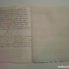 Manuscritos antiguos: MANUSCRITO DE 1677. NUBCIALS EN PARROQUIA DE ST. GREGORI. GIRONA.TEXTO LATÍN.5 PÁG. Lote 62307468