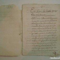 Manuscritos antiguos: MANUSCRITO DE 1704 EN GIRONA. BRUYOLA. CAPITOLS MATRIMONIALS. 18 PÁGINAS.. Lote 62307804
