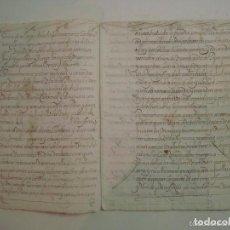 Manuscritos antiguos: MANUSCRITO DE 1679.DE CAPITOLS MATRIMONIALS. GERONA..TEXTO CATALÁN.16 PÁGINAS. Lote 62308596