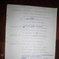 Manuscritos antiguos: OBRA POETICA ORIGINAL CON MANUSCRITOS ALICANTE PREGON HOGUERAS 1960 FOGUERS ORIGINAL. Lote 43651466