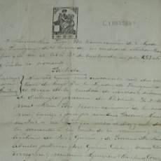Manuscritos antiguos: PARTIDA DE BAUTISMO MANUSCRITA PARROQUIA DE SAN ROQUE NOVELDA 1907. COPIA DE 1912. Lote 63138623