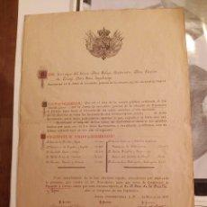 Manuscritos antiguos: JUNTA ELECTORAL DEL DISTRITO DE MADRID - ELECCIONES DE DIPUTADOS A CORTES AÑO 1898 - ORIGINAL. Lote 63649323