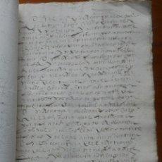 Manuscritos antiguos: ARRENDAMIENTO DE ISLAS EN RUTE, 1594, DE GONZALO FERNÁNDEZ DE CORDOVA Y SANTILLÁN, GUADALCAZAR. Lote 64345243