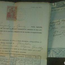 Manuscritos antiguos: CERTIFICADO PROPIEDADES CATASTRO NOVELDA. 1919. SELLO OFICIAL CATASTRO ALICANTE. Lote 181218061