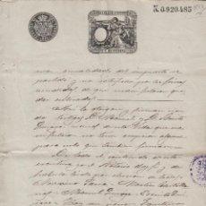 Manuscritos antiguos: PONFERRADA (LEON) 1893 , SELLO 13ª CLASE ,75 C. DOC MANUSCRITO FISCAL PAPEL TIMBRADO SELLADO. Lote 64735679