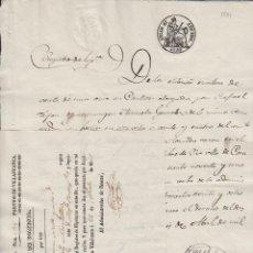 Manuscritos antiguos: VILLAFRANCA (LEON) 1861 ,SELLO 4 , 40 MARAVEDIS DOC MANUSCRITO FISCAL PAPEL TIMBRADO SELLADO. Lote 64736495
