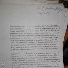 Manuscritos antiguos: MANUSCRITO AL CELEBRE CIRUJANO DE ESTETICA LEON CARDENAL 1968 FIRMA FEDERICO DELGADO. Lote 47790419