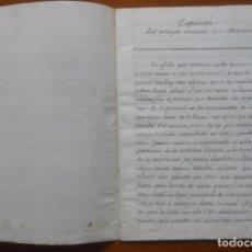 Manuscritos antiguos: ASTRONOMÍA, EXPOSICIÓN DEL PRINCIPIO UNIVERSAL ATRACCIÓN, 32 P, S XIX?, 20,5 X 15. Lote 65809190