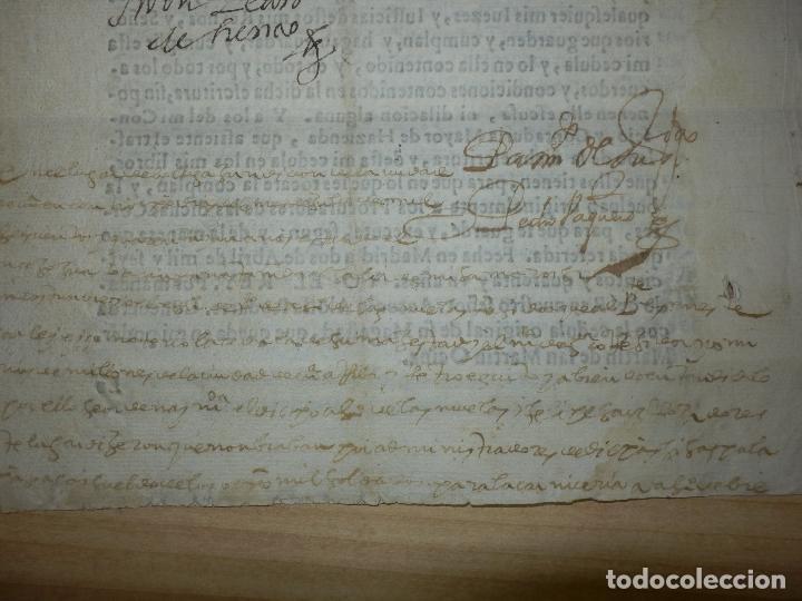 Manuscritos antiguos: Cédula Manuscrito El rey Pago Sueldos a 8000 soldados con Sisas en Fuenterabia Sello Cuarto de 1641 - Foto 6 - 66168686