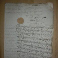 Manuscritos antiguos: ANTIGUO MANUSCRITO - EL REY AÑO 1624 - APOSENTADOR D. LUIS BENEGAS DE FIGUEROA, CONDESA DE CASTELLAR. Lote 66178178