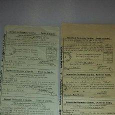 Manuscritos antiguos: RECIBO IMPUESTO DE CONSUMO Y LIQUIDOS. JUMILLA 1909 / 1911. REPARTO VECINAL DE CONSUMOS. Lote 66230589