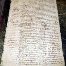 Manuscritos antiguos: DOCUMENTO SIGLO XVI,1597, HELLIN , ALBACETE, 8 PAGINAS, A INVESTIGAR. Lote 66516394