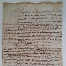 Manuscritos antiguos: ¿ TERUEL ¿ CIRCA 1784 * PETICION DE PUENTE Y CARRETERAS PARA VIAJANTES Y COMERCIO * RIO ALFAMBRA. Lote 66875454