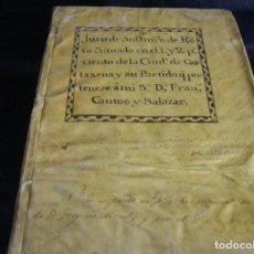 Manuscritos antiguos: MANUSCRITO DE RENTAS CARTAGENA MURCIA Y REAL FABRICA DE PAÑOS GUADALAJARA, FELIPE V SIGLO XVIII. Lote 67281197