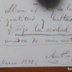 Manuscritos antiguos: ANTONIO FERNÁNDEZ GRILO, POESÍA AL REY ALFONSO XII Y AL MARQUÉS DE LA FUENSANTA DE PALMA. Lote 67725705