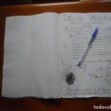 Manuscritos antiguos: MILICIA NACIONAL MANZANARES, CIUDAD REAL, TÍTULO DE CAPITÁN, 1837, MUY CURIOSO SELLO. Lote 67727913