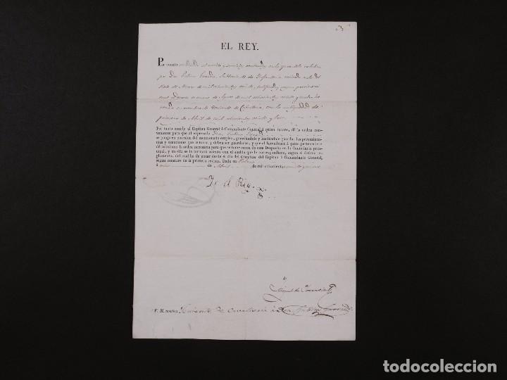 FIRMA REAL FERNANDO VII 1829 (Coleccionismo - Documentos - Manuscritos)