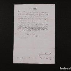 Manuscritos antiguos: FIRMA REAL FERNANDO VII 1829. Lote 67940329