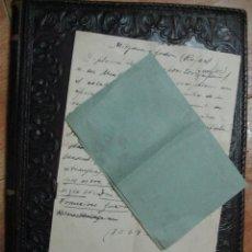 Manuscritos antiguos: MANUSCRITO SOBRE RAFAEL MITJANA Y GORDON FAMOSO MUSICOLOGO. Lote 68285205