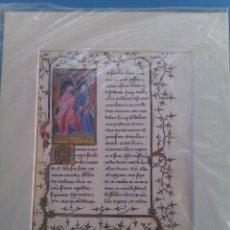 Manuscritos antiguos: LÁMINA FACSIMILAR CICERÓN: SOBRE LA AMISTAD. BELSER, GERMANY,1991. B. VATICANA. NUEVA. COLECCIONISTA. Lote 68474009