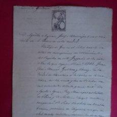 Manuscritos antiguos: DOCUMENTO MANUSCRITO, INSCRIPCIÓN NACIMIENTO,REGISTRO CIVIL - AÑO 1871 - JUZGADO BARCELONA.. R- 3796. Lote 68571681
