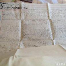 Manuscritos antiguos: 1861 REINO UNIDO * 2 ENORMES PERGAMINOS MANUSCRITOS * METROPOLITAN RAILWAY CORPORATION * FERROCARRIL. Lote 69756045