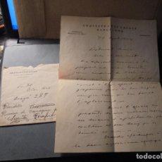 Manuscritos antiguos: MUSICA - PAU CASALS . CARTA MANUSCRITA Y SOBRE DEL MUSICO PAU CASALS MANDADA AL PIANISTA BLAI NET. Lote 69945525