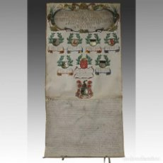 Manuscritos antiguos: FAMILIA O'CALLAGHAN GENEALOGÍA. S. XVIII - FAMILIA O'CALLAGHAN. Lote 54238208