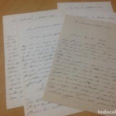 Manuscritos antiguos: CARTAS MANUSCRITAS SAN SEBASTIÁN FUENTERRABIA A ALCOY ALICANTE. Lote 70393109