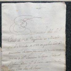 Manuscritos antiguos: MANUSCRITO GERONIMA DE VARGAS - GARCI PEREZ DE VARGAS - BALTASAR CALDERON CONQUISTA AMERICA PIZARRO. Lote 70741437