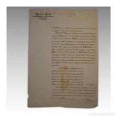 Manuscritos antiguos: AUMENTO DE SALARIO DEL MINISTRO DE LA AUDIENCIA DE FILIPINAS (1846) - CONTADURÍA DE EJERCITO Y HACIE. Lote 54241223