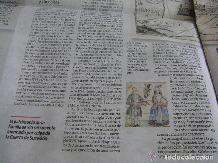 Manuscritos antiguos: Manuscrito de la primera receta de horchata de la historia Valencia año 1748 siglo XVIII - Foto 12 - 71042797