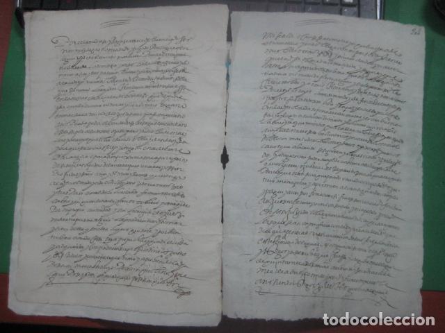 Manuscritos antiguos: MANUSCRITO FIRMADO AÑO 1599 VILVIESTRE - BURGOS ARRENDAMIENTO DE UNA OLMEDA, COMPLETO DE 5 PAGINAS - Foto 2 - 71171293