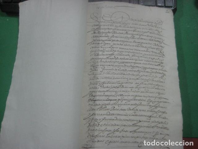 Manuscritos antiguos: MANUSCRITO FIRMADO AÑO 1599 VILVIESTRE - BURGOS ARRENDAMIENTO DE UNA OLMEDA, COMPLETO DE 5 PAGINAS - Foto 6 - 71171293