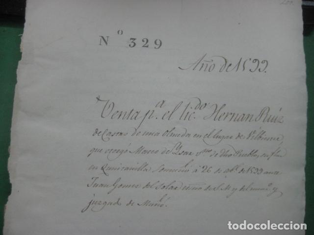 Manuscritos antiguos: MANUSCRITO FIRMADO AÑO 1599 VILVIESTRE - BURGOS ARRENDAMIENTO DE UNA OLMEDA, COMPLETO DE 5 PAGINAS - Foto 9 - 71171293