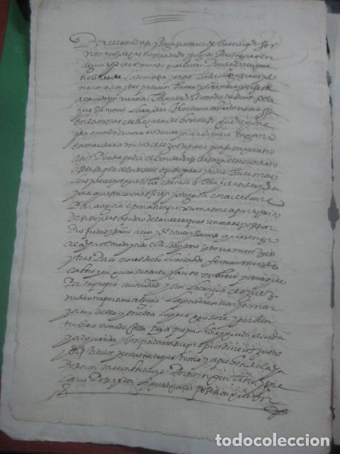 Manuscritos antiguos: MANUSCRITO FIRMADO AÑO 1599 VILVIESTRE - BURGOS ARRENDAMIENTO DE UNA OLMEDA, COMPLETO DE 5 PAGINAS - Foto 10 - 71171293