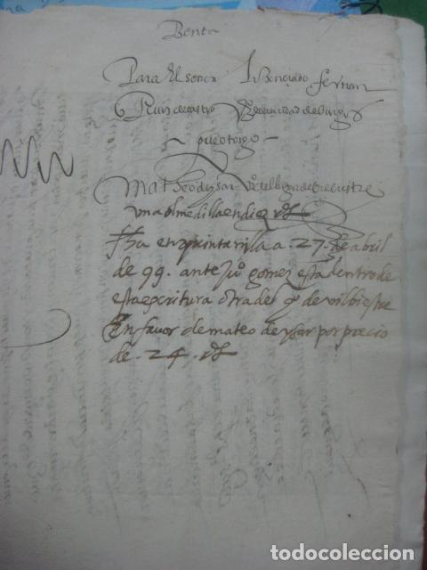 Manuscritos antiguos: MANUSCRITO FIRMADO AÑO 1599 VILVIESTRE - BURGOS ARRENDAMIENTO DE UNA OLMEDA, COMPLETO DE 5 PAGINAS - Foto 14 - 71171293